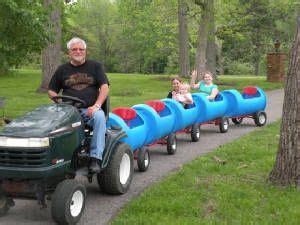 backyard ride on train wonderful diy choo choo train from plastic barrel