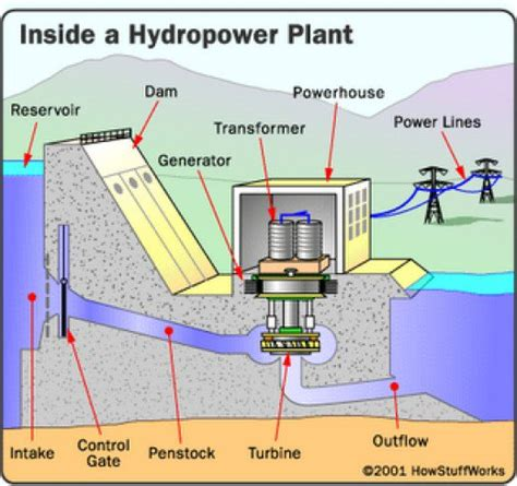 schematic layout of hydroelectric power plant various plants used for generation of electric power