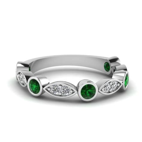 Wedding Bands Emerald by Bract Bezel Band Fascinating Diamonds
