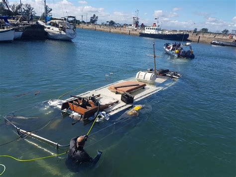 sunken boat port authority prepares to salvage sunken boat zululand