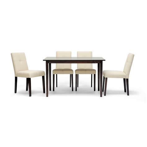 Dining Chairs Contemporary Elsa Beige Fabric Modern Dining Chair See White