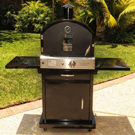 Pacific Living Black Outdoor Gas Pizza Oven w/Cart