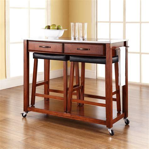 wooden kitchen island stools