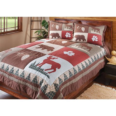 Coverlet And Shams Set S Lodge Quilt And Sham Set 429859 Quilts
