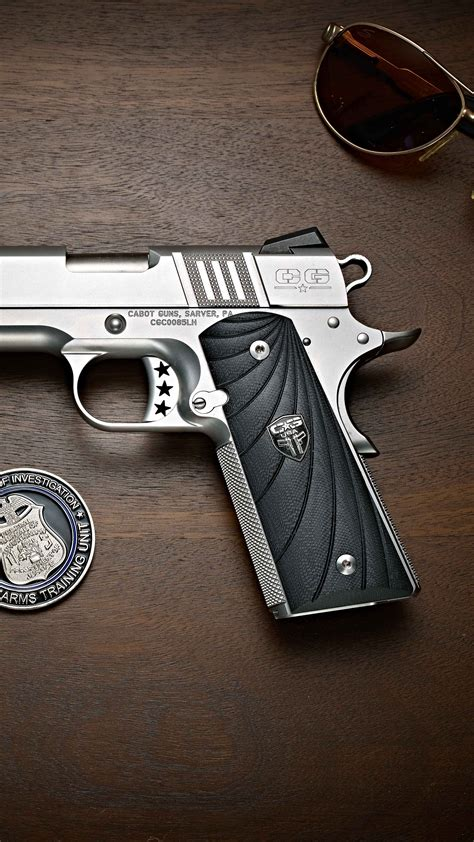 wallpaper cabot  pistol  silver military