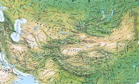 central asia physical map file central asia physical jpg