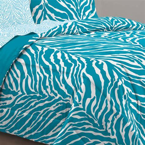 Aqua Blue Zebra Bedding Twin Xl Full Queen Teen Girl Blue Zebra Bedding