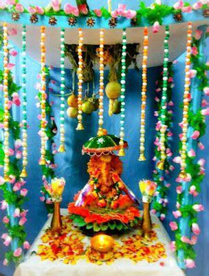 ganpati decoration ideas  home easy ganpati