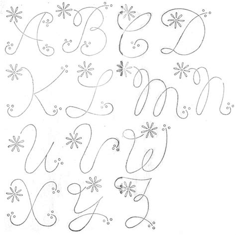 Embroidery Letters Template Free