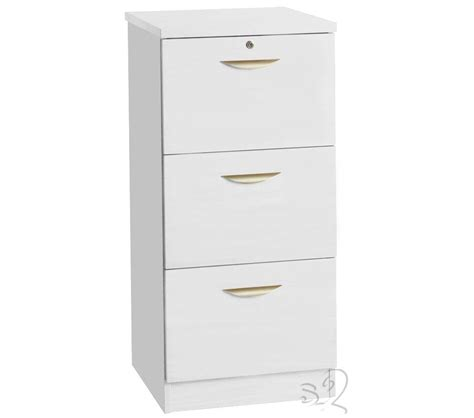 3 Drawer File Cabinet White Document Moved