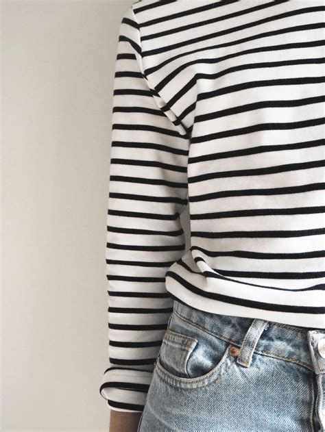 24274 Black Stripe Casual Top my favourite breton striped top armors style and