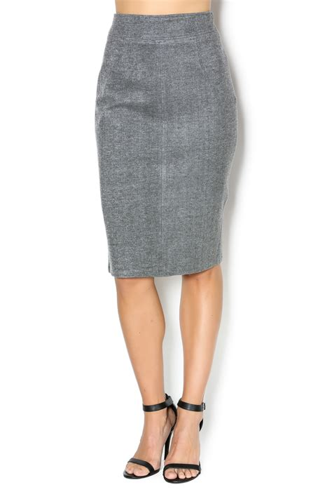 frnch grey pencil skirt from minneapolis by merilou