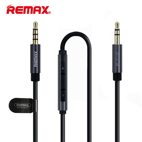 Remax Kable Aux Audio Cable 1 Meter Rl L100 35mm remax rl s120 3 5mm mic aux cable phone audio cable wire for car mp4 mp3 headphone aux