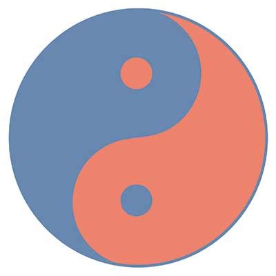 what color is yin the yin yang test