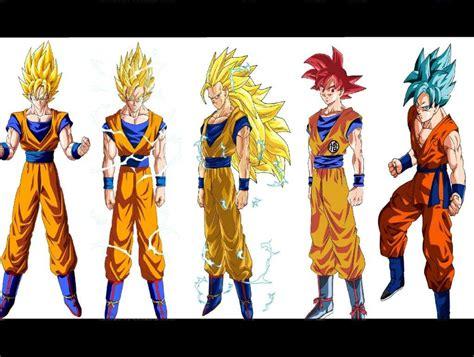 imagenes de goku fase 7 fases de goku dragon ball espa 209 ol amino