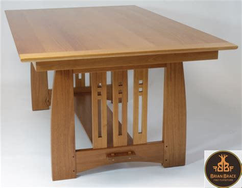 arts and crafts dining room table by brian brace