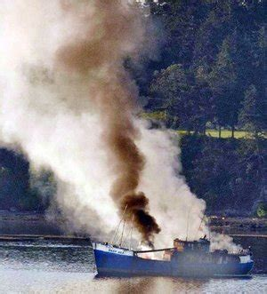 deep sea fishing boat sank arson deemed cause of boat fire in penn cove the seattle