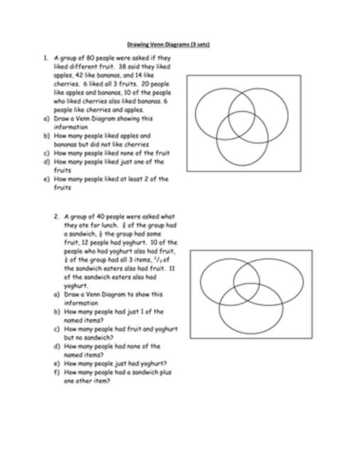 solving problems using venn diagrams worksheets all worksheets 187 solving problems using venn diagrams