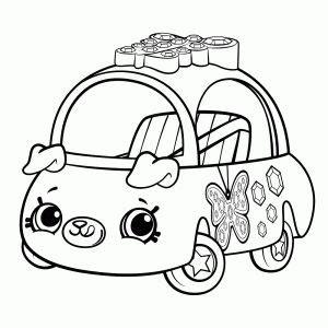 shopkins cutie cars kleurplaat printen pictures  color