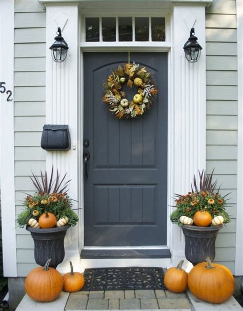 get into the seasonal spirit 15 fall front door d 233 cor ideas