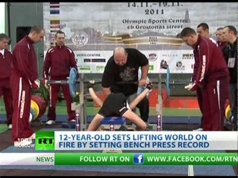 12 year old bench press a 12 year old girl could bench press a big guy or