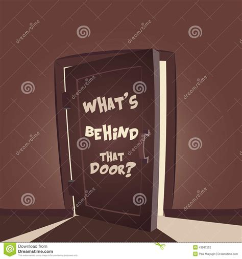 whats that door stock vector image 43987292