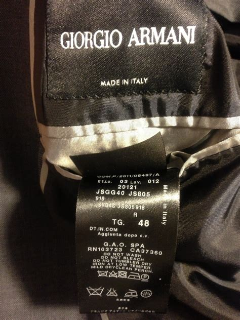 Labels For Armani by Giorgio Armani Black Label Suit