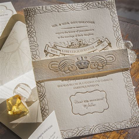 new orleans style wedding invitations orleans lucky luxe couture correspondence letterpress