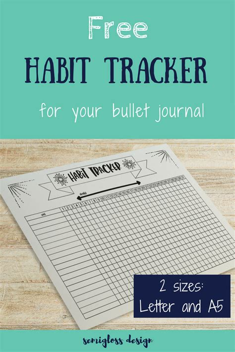 bullet journal habit tracker printable amazing free habit tracker to motivate anyone semigloss