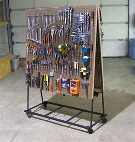 room organizer tool build a rolling pegboard tool organizer offices design