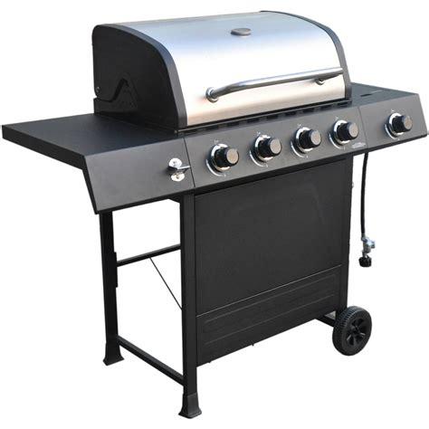 backyard grill stainless steel 4 burner gas grill revoace 4 burner lp gas grill with side burner stainless