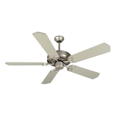 brushed nickel ceiling fan without light craftmade lighting cxl brushed satin nickel ceiling fan