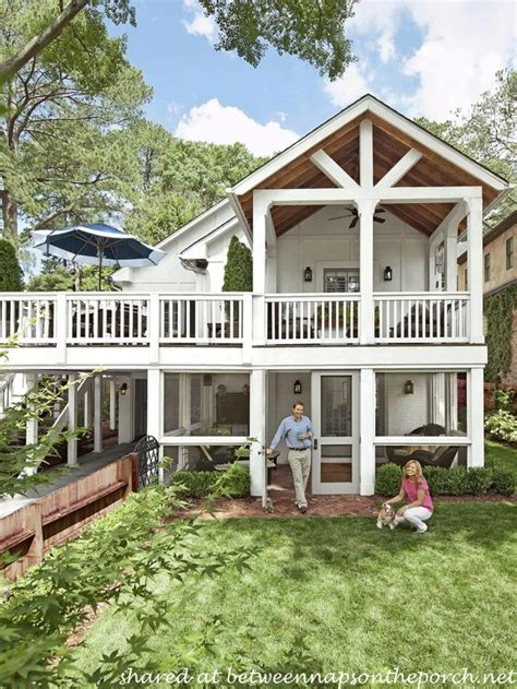 double porch house plans porch designs ideas build a two story porch or double porch
