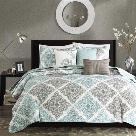 madison park coverlet madison park claire 6 piece quilted coverlet set