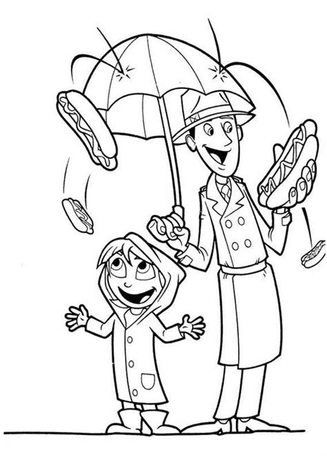 cloudy with a chance of meatballs steve coloring page