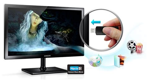 samsung t24c350kd 24 inch smart tv monitor wide hd tn led mhl hdmi ebay