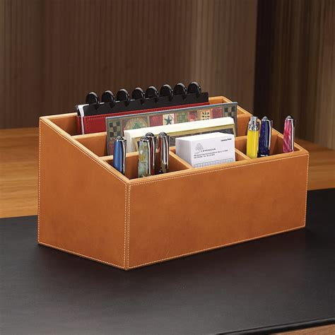Morgan Unifier Leather Desk Organizer Levenger Leather Desk Accessories Organizers