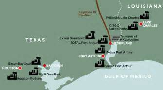 refineries map keystone xl refineries already exporting 60 percent of