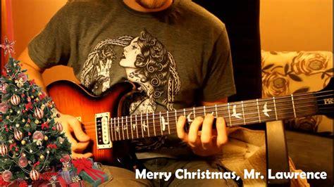 merry christmas  lawrence cover  ek instrumental guitar song kaver saundtreka youtube