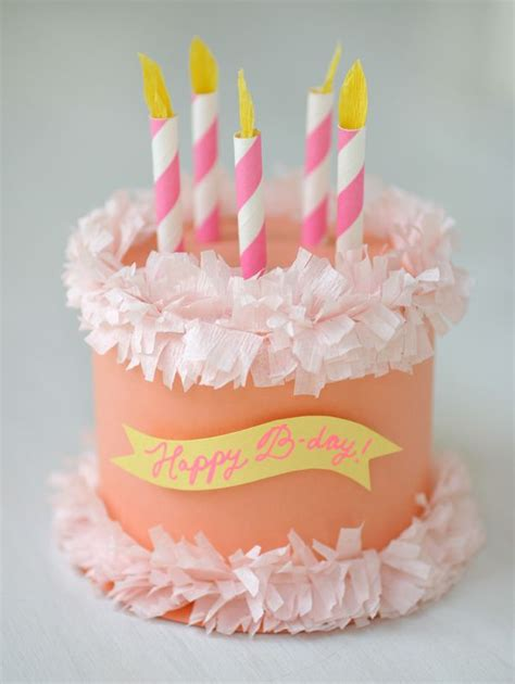 Paper Birthday Cake Craft - diy crafts ideas paper birthday cake box oh happy day