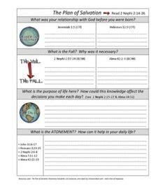 printable quiz on salvation free printable plan of salvation chart diy pinterest