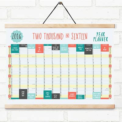 printable wall planner for 2016 a2 wall planner