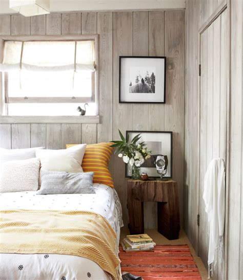 wood paneling for bedroom walls a 600 sq ft california cabin retreat decorology