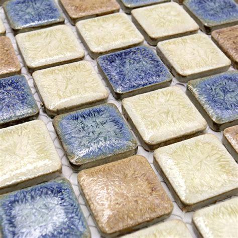 ceramic mosaic tile backsplash italian porcelain tiles swimming pool glazed ceramic mosaic beige and blue kitchen tile