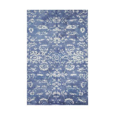 titan lighting senneh blue and white printed 5 ft x 8 ft
