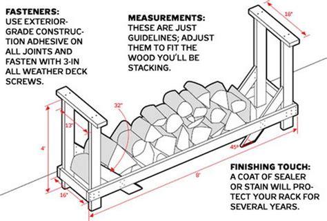 easy diy outdoor firewood racks