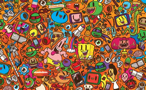 nickelodeon painting nickelodeon franchise pattern by j3concepts on deviantart