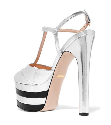 Gucci 666 3 Platform Heels gucci metallic leather platform pumps shoes post