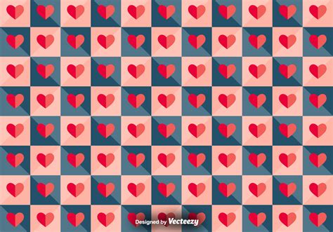 pattern heart vector vector tiled pattern with paper hearts download free