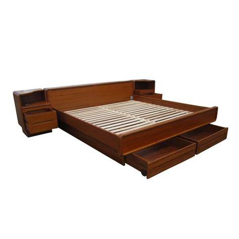 mid century platform bed vintage mid century danish teak platform bed with